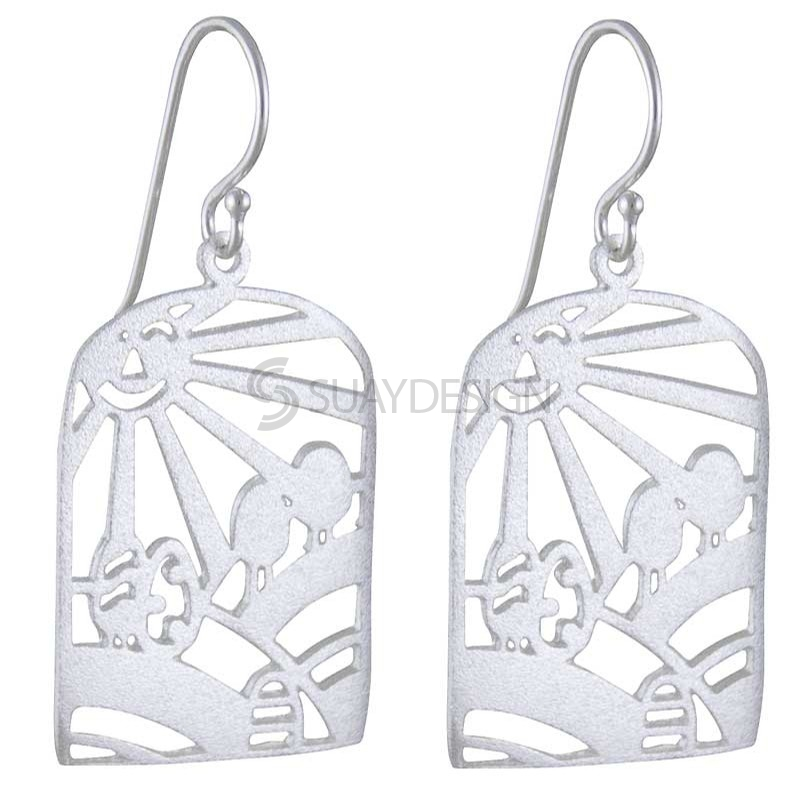 Women's Sunshine Silver Earrings