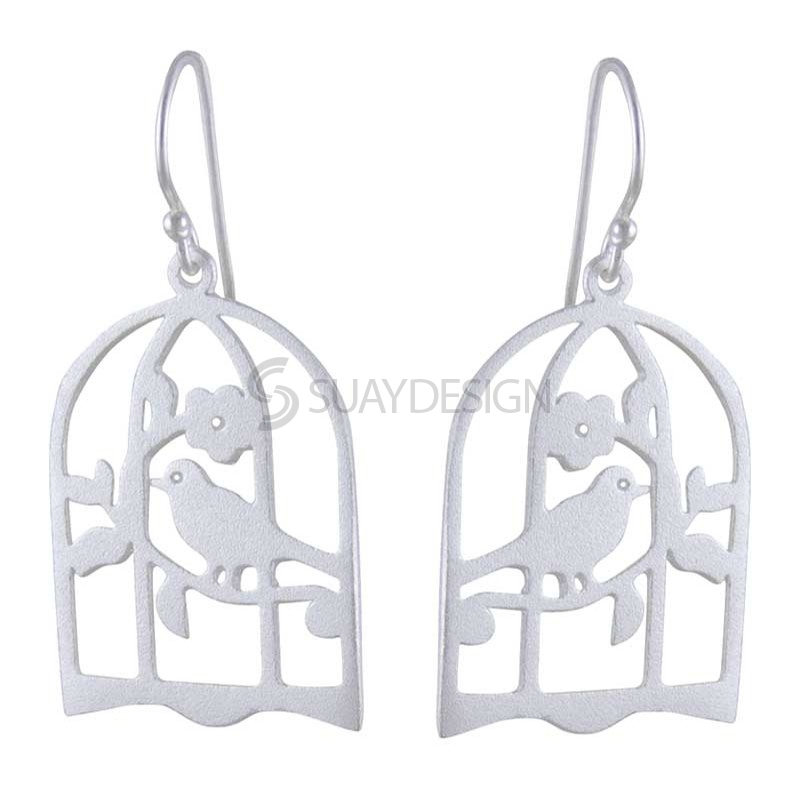 Silver Birdsong Earrings