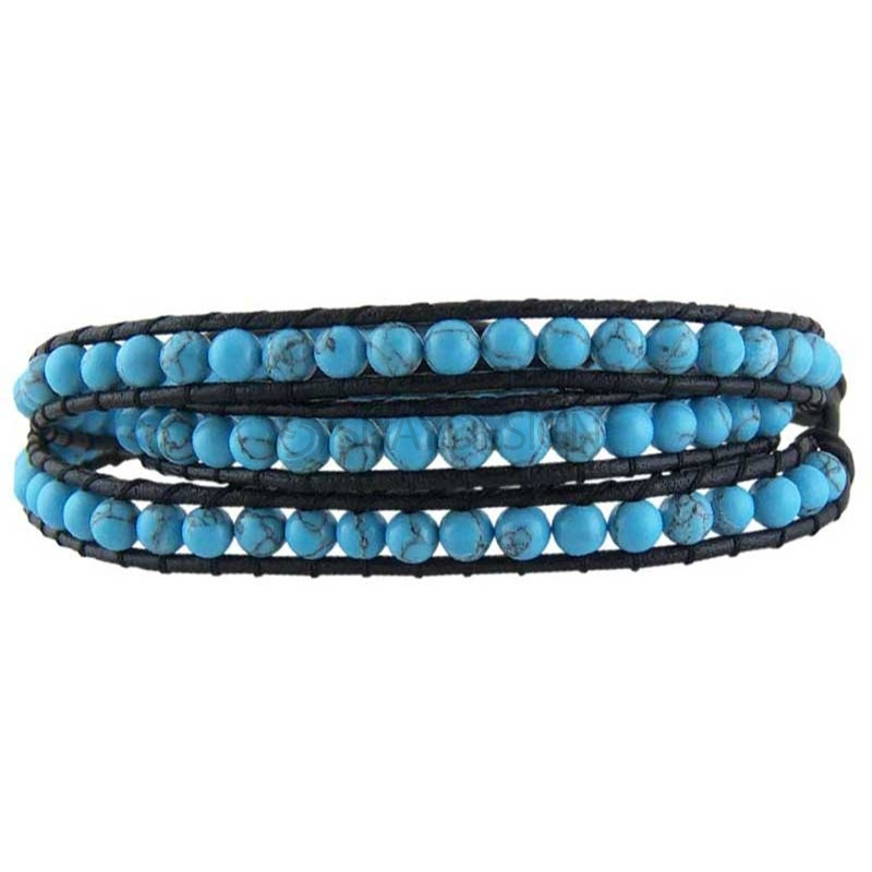 Yukata Turquoise Leather Bracelet