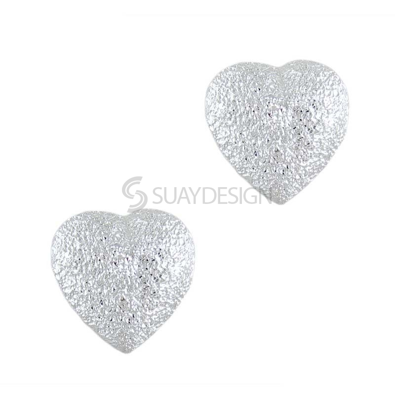 Women's Silver Endear Mini Sparkly Earrings