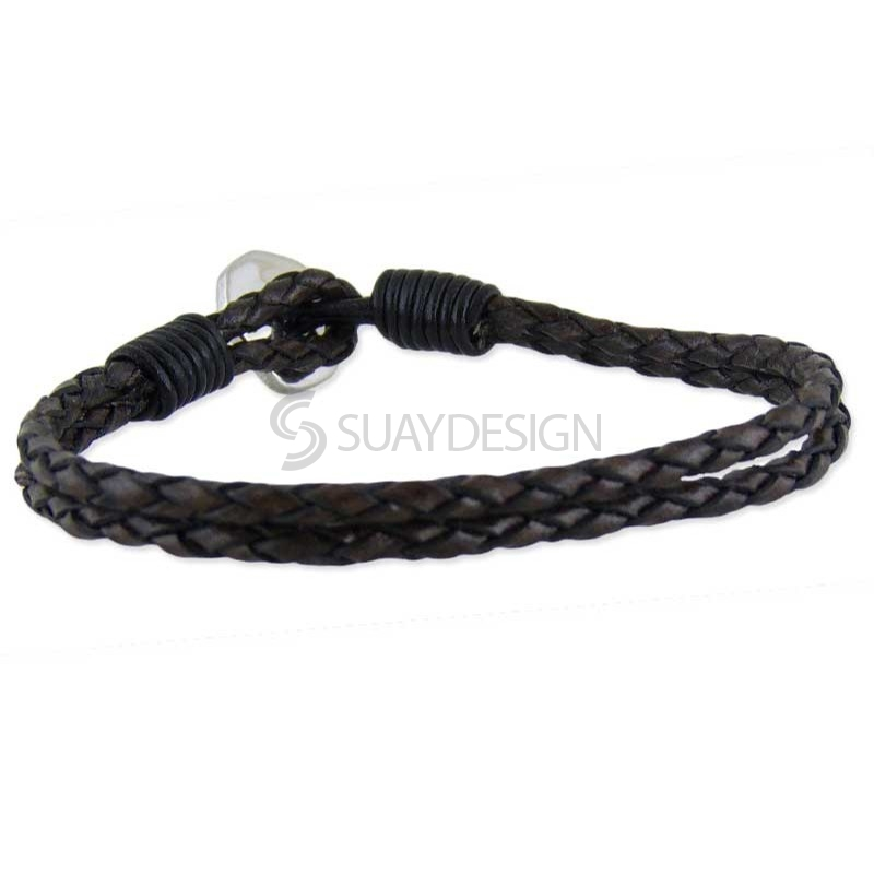Orlando VS2 Brown Leather Bracelet
