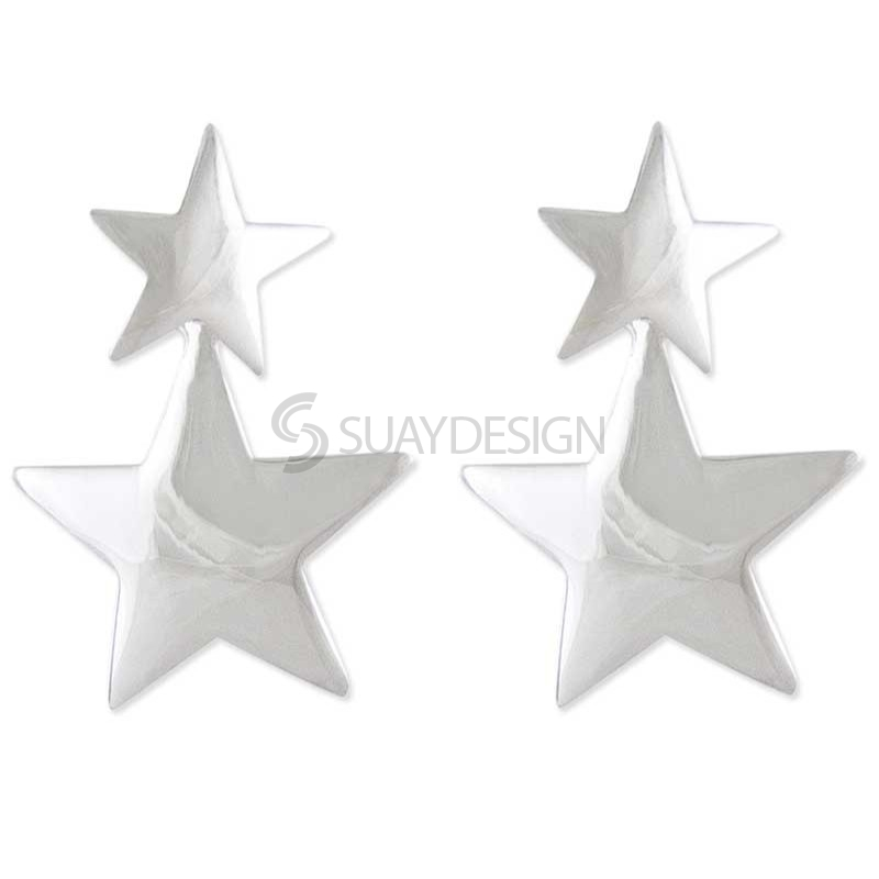 Women's Silver Galaxy Star Earrings