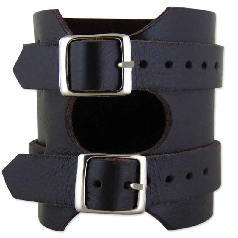 Como Brown Leather Cuff