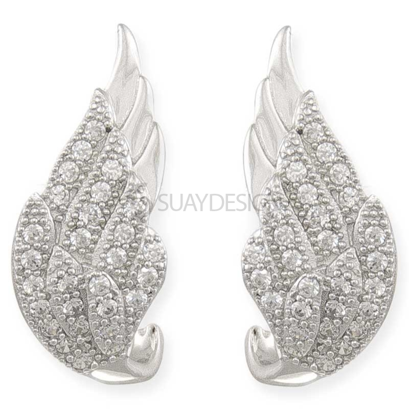 Women's Winged Desire Silver Earrings