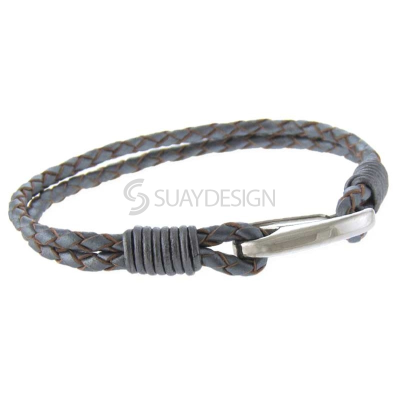 Women's Orlando Silver Leather Bracelet