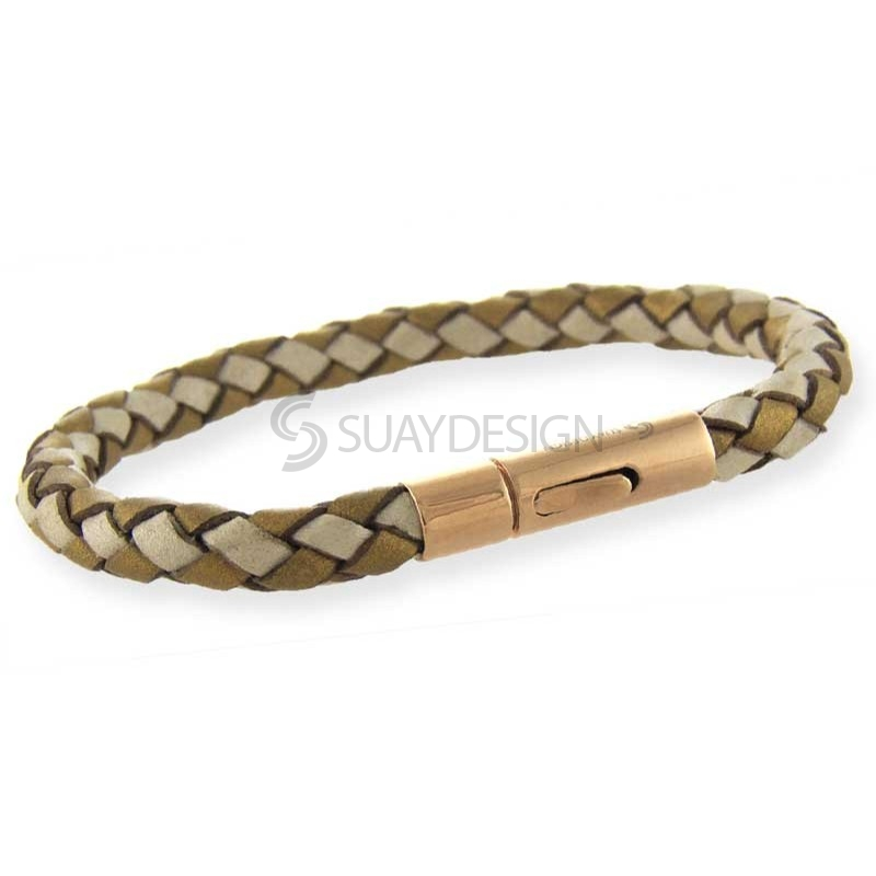 Women's Arizona Gold & Pearl Leather Bracelet