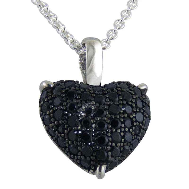 Women's Innocence Black Silver Pendant