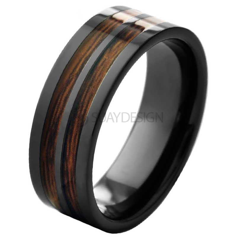 Hideaway Black Ceramic Ring