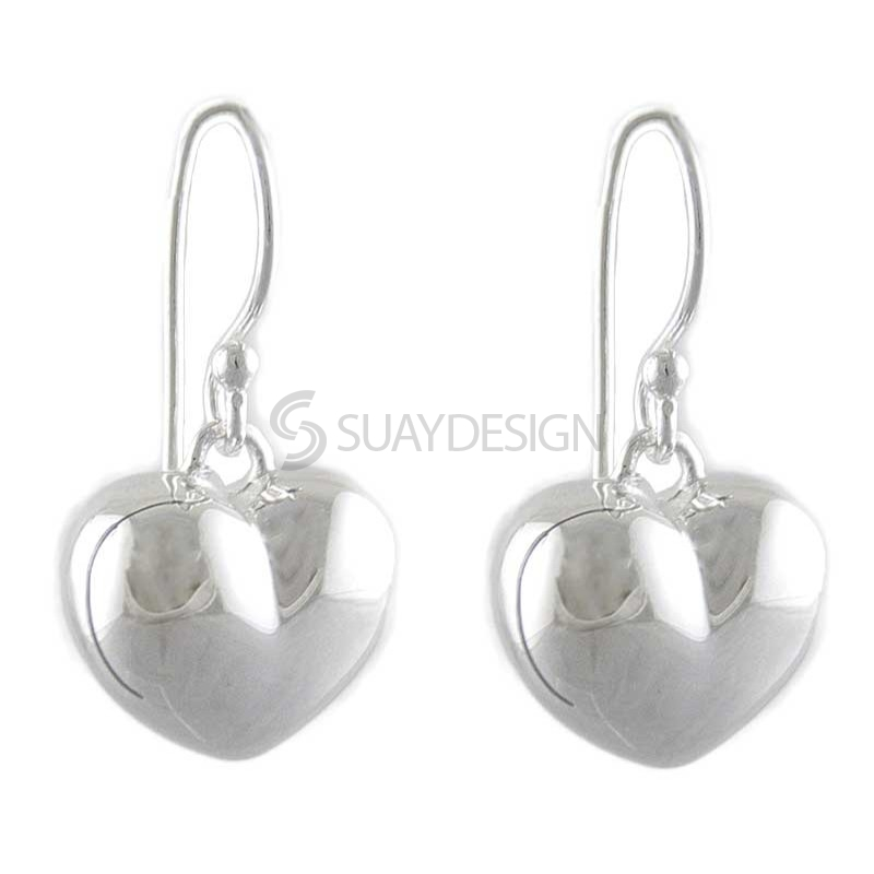 Women's Ella Silver Heart Earrings