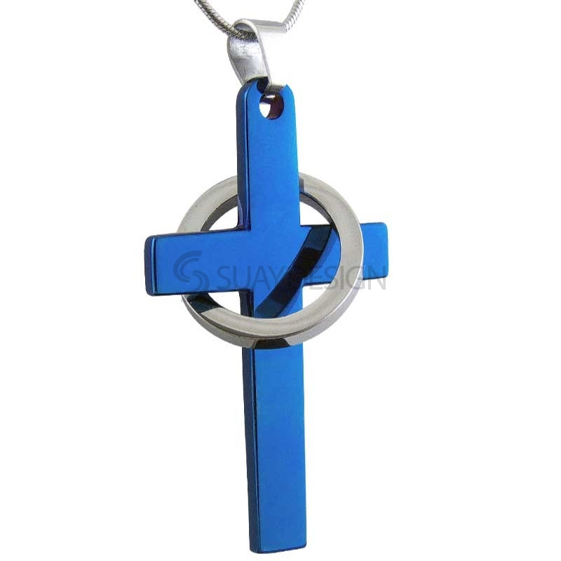 Women's Trinity Aqua Major Steel Necklace