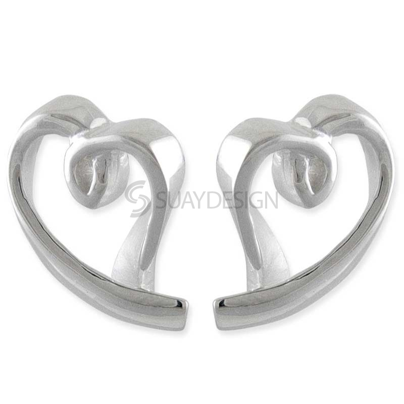 Women's Liberty Silver Heart Earrings