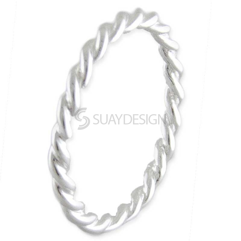Women's Silver Twist Stackable Ring