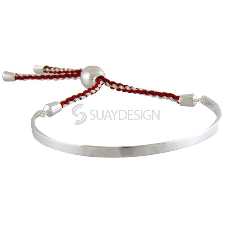 Women's Scarlett Silver Friendship Bracelet