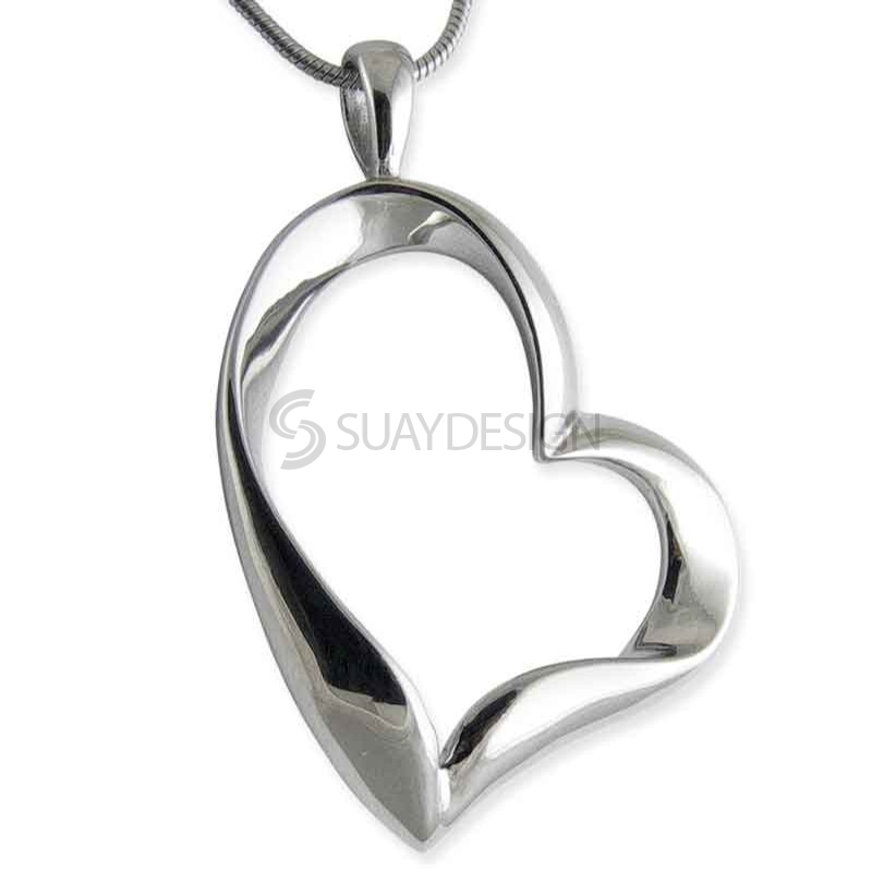 Women's Joy Steel Heart Pendant