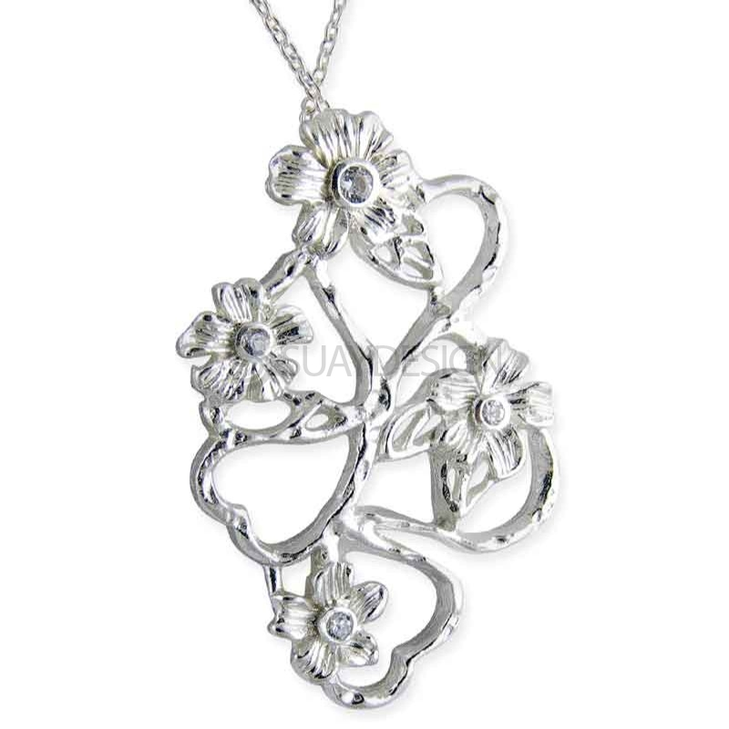 Women's Angelica Silver Crystal Necklace
