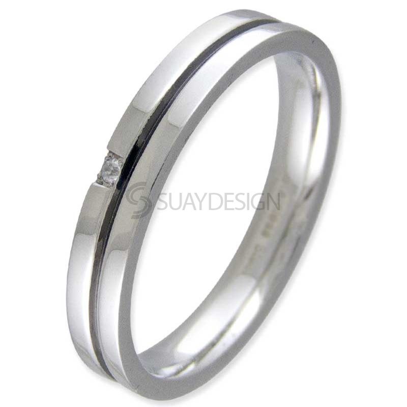 Women's Stand Steel Ring