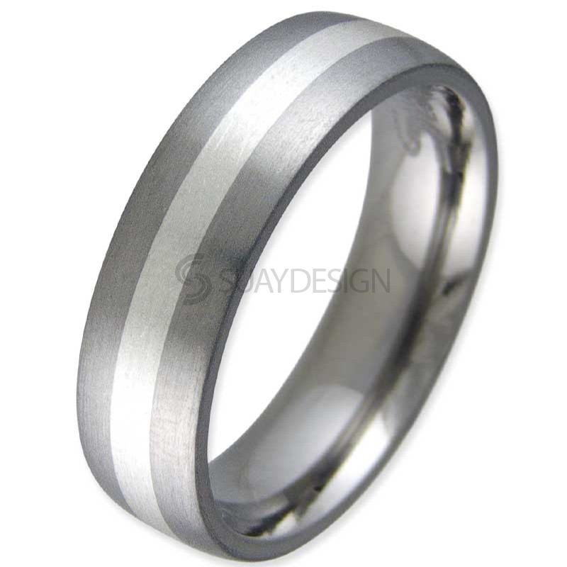 Women's Entice Satin Titanium Ring