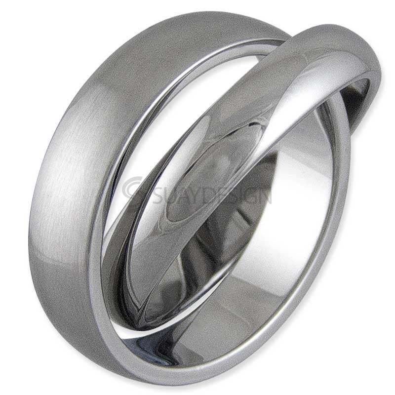 Women's Interlock Steel Ring