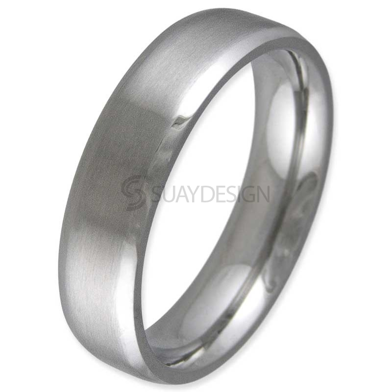 Women's Contour Titanium Ring