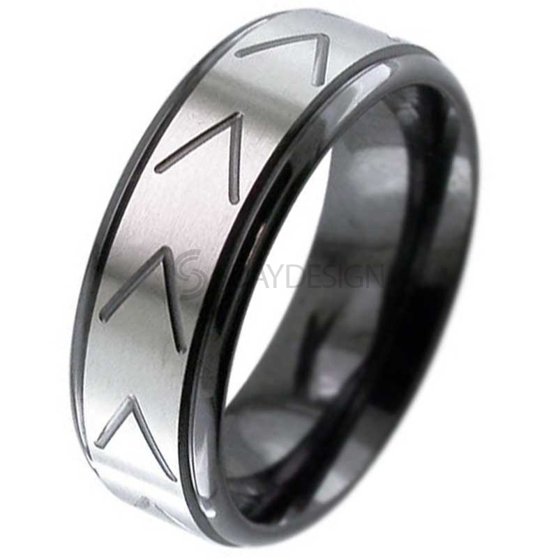 Zirconium Ring Z119RB-CHEV