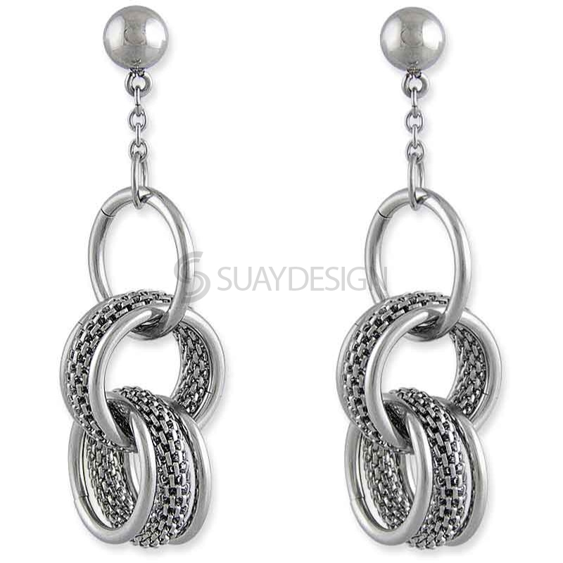 Women's Mini Marseille Steel Earrings