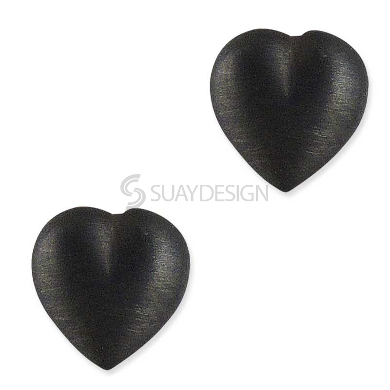 Gracie Silver Ebony Earrings