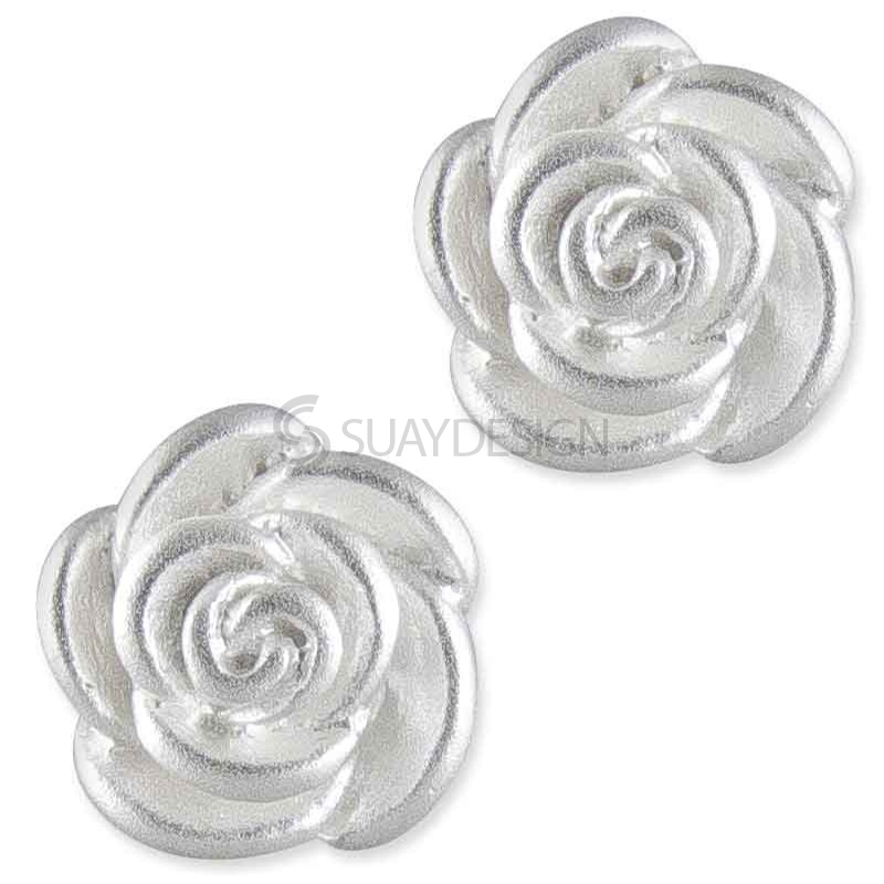 Women's Valentina Silver Flower Earrings
