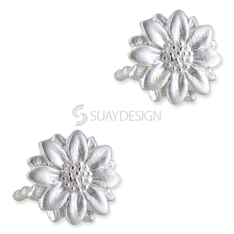 Women's Arianna Silver Flower Earrings
