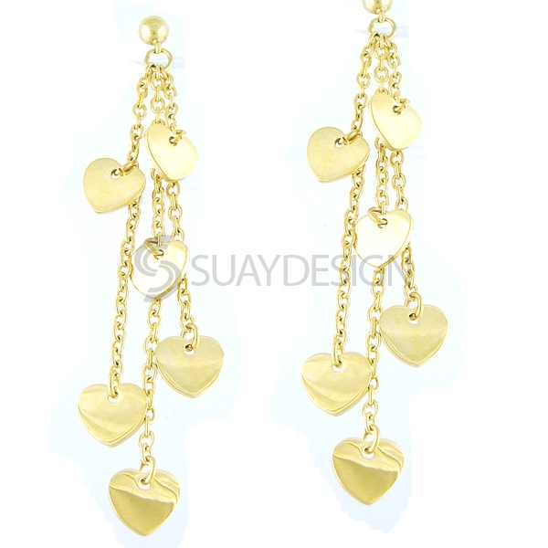 Women's Essence Gold Steel Earrings