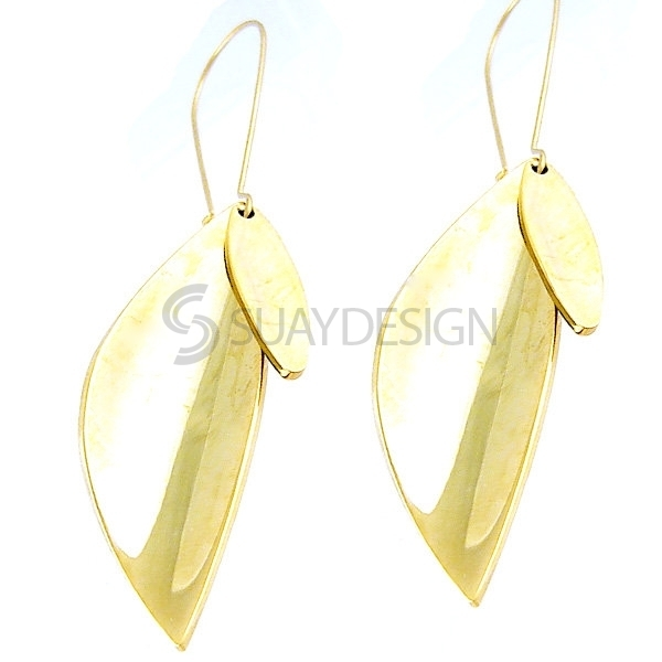Women's Autumn Gold Steel Earrings
