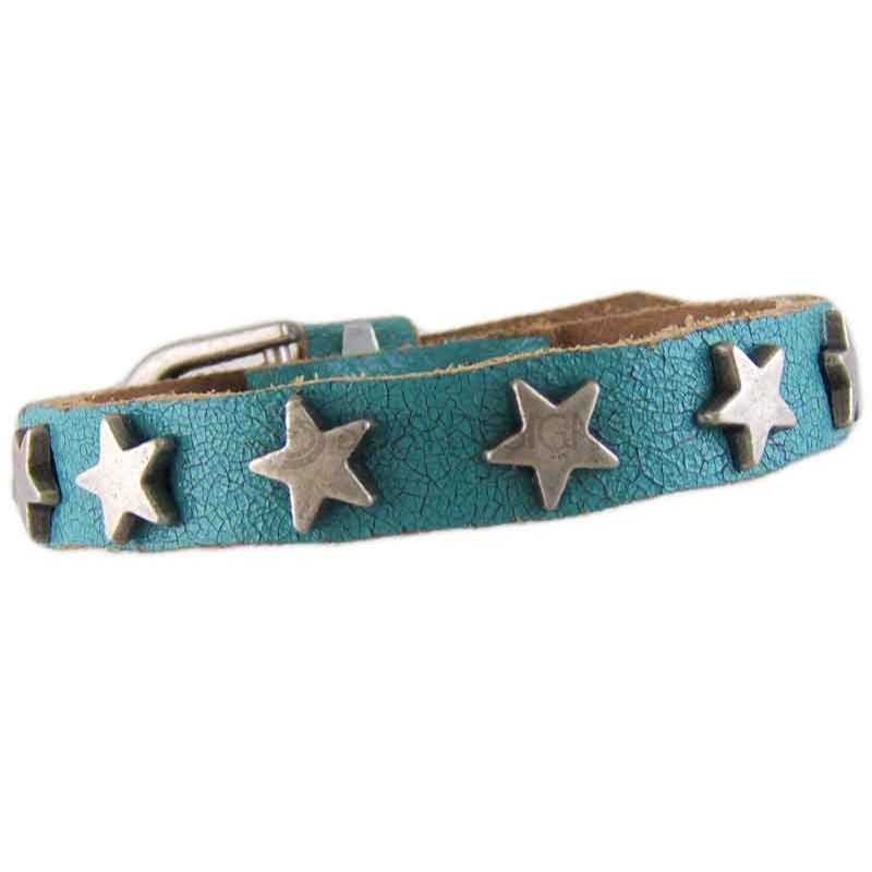 Star Turquoise Leather Bracelet 010