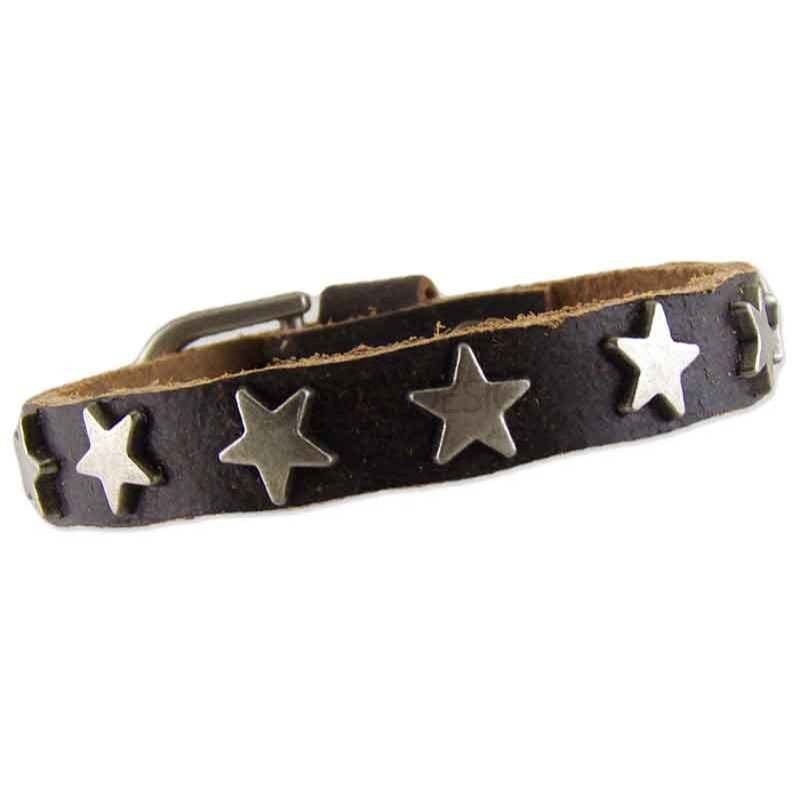 Star Brown Leather Bracelet 010
