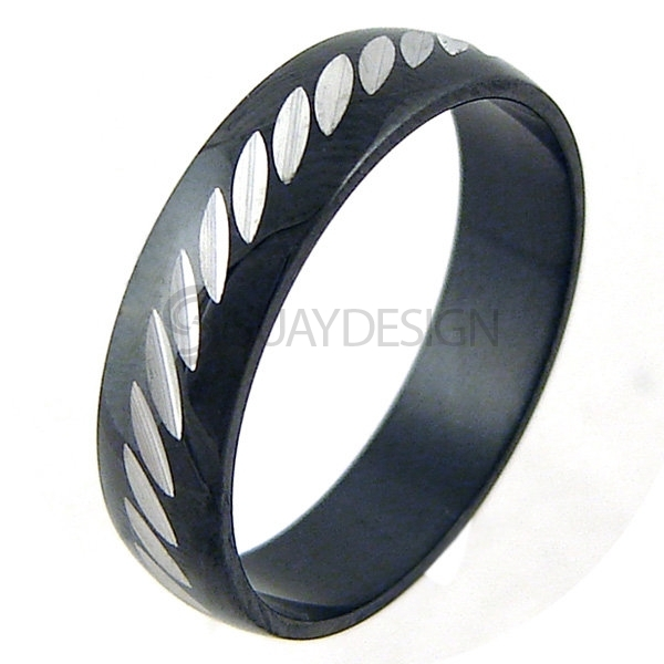 Women's Notch Stainless Steel Ring
