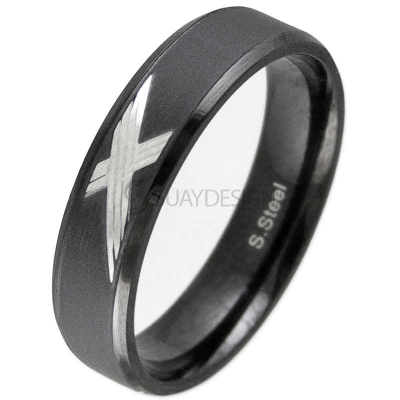 Torrent Black Steel Ring