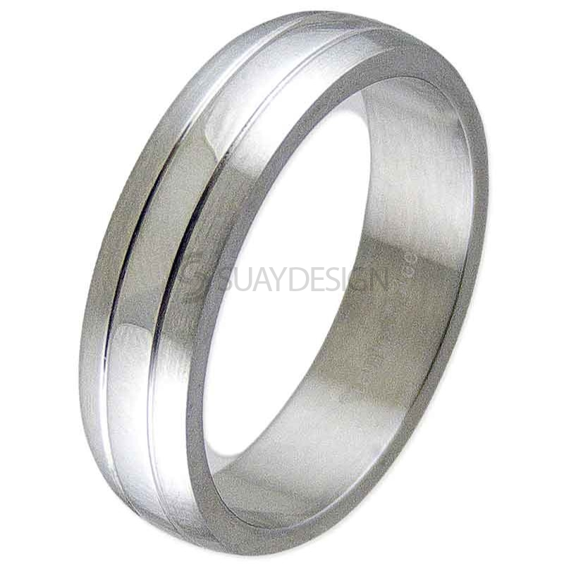 Women's Present Steel Ring
