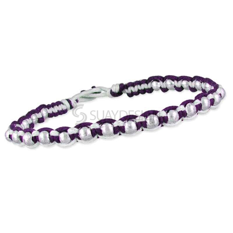 Friendship Bracelet Purple Style 3