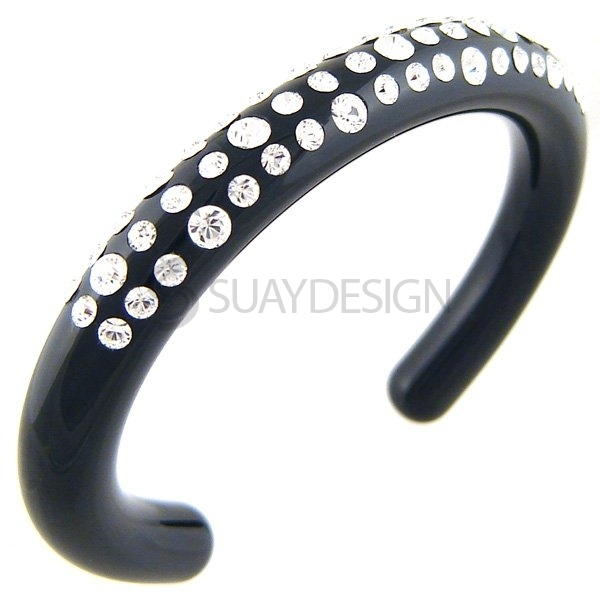 Women's Flash Black Swarovski Bangle