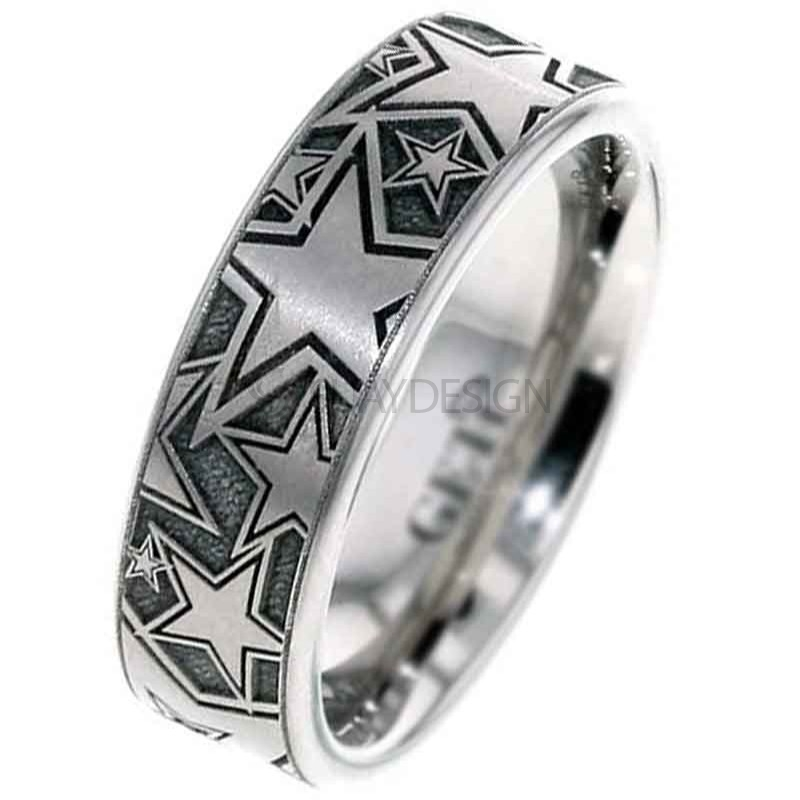 Women's Titanium Multi Star Ring