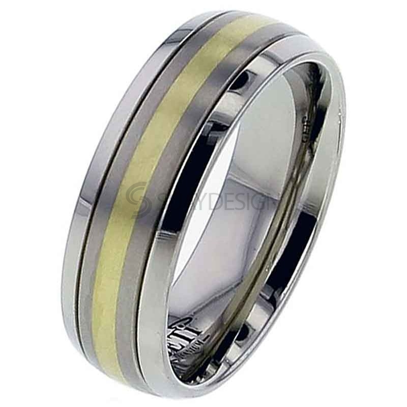 Women's Titanium Wedding Ring T036D