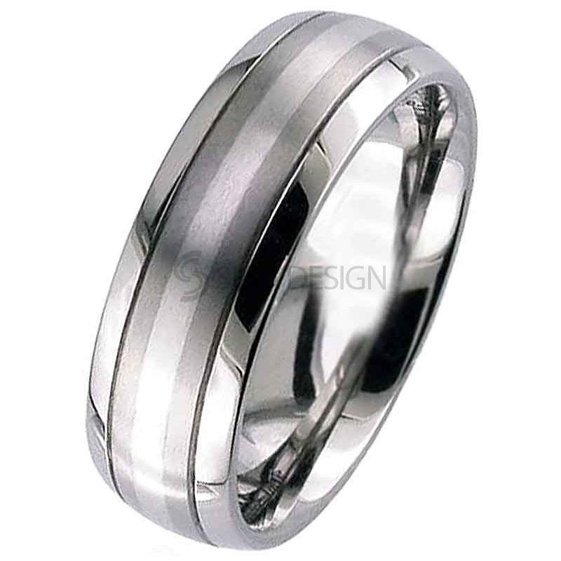 Women's Titanium Wedding Ring T036Di