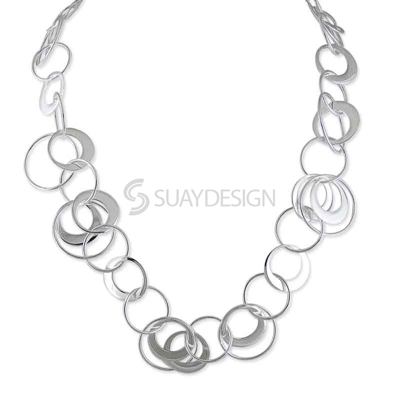 Women's Cirque De Silver Necklace
