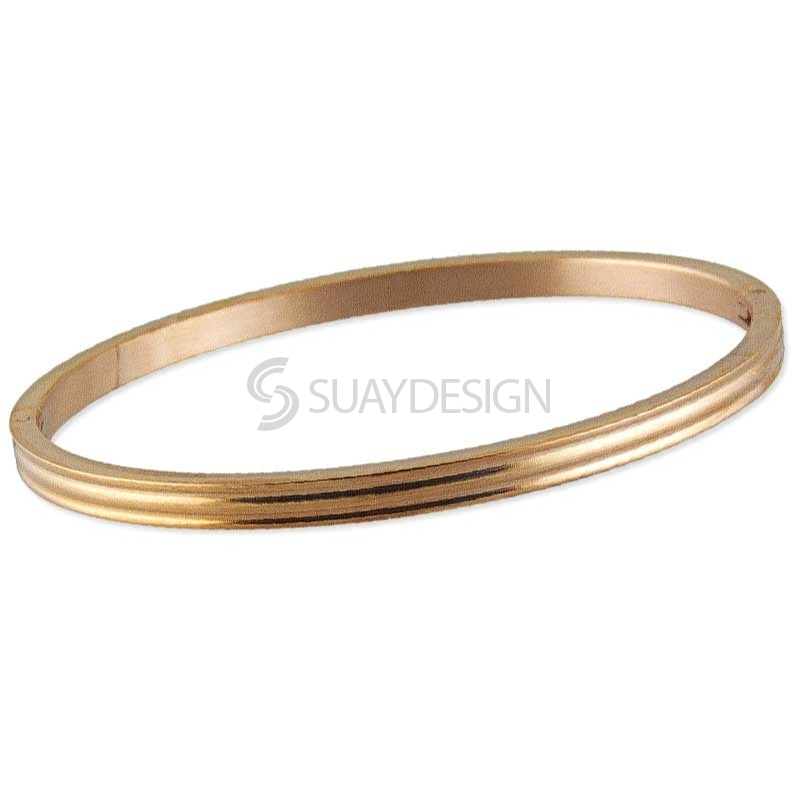 Women's Relinquish Rose Gold Steel Bangle