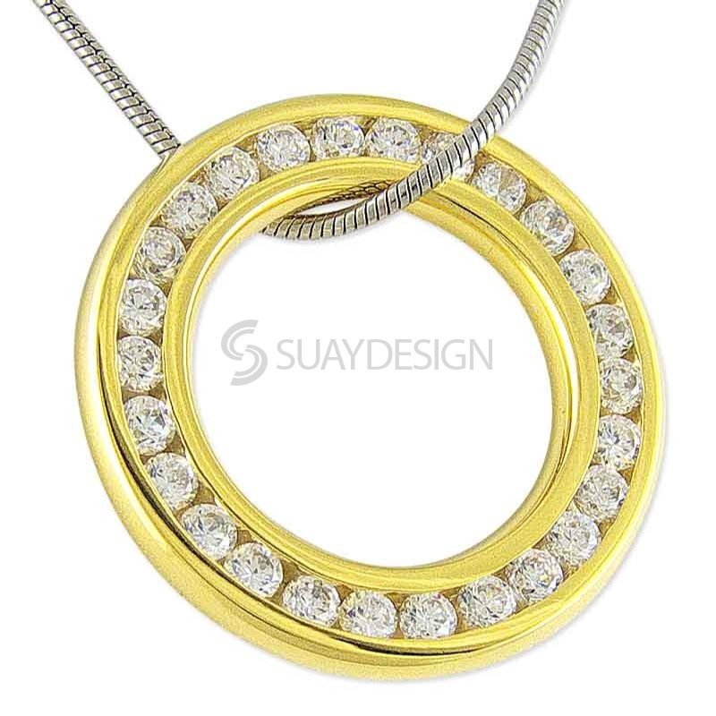 Women's Splendor Gold Steel Necklace