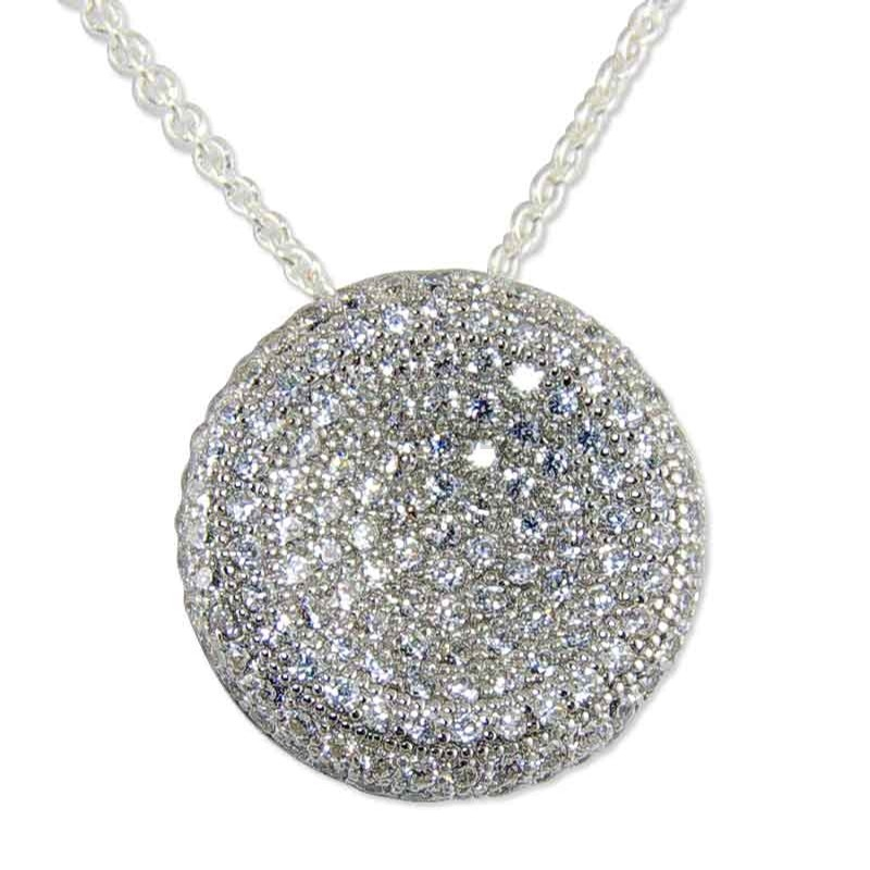 Women's Secret Silver Crystal Necklace