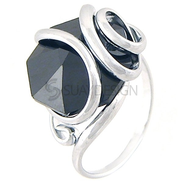 Women's Sassari Nero Mini Ring