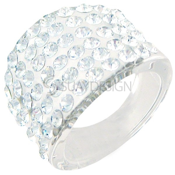 Women's Shimmer Swarovski Ring