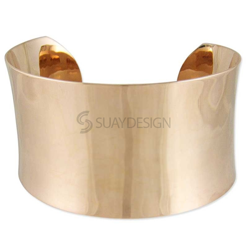 Women's Azure Rose Gold Steel Cuff Bangle