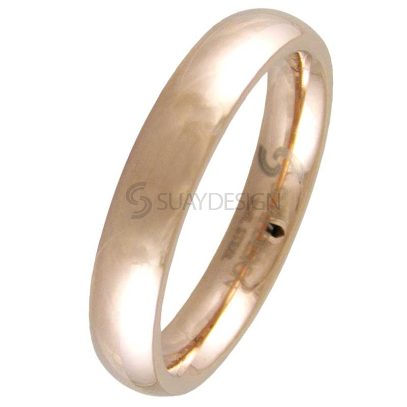 Smooth Rose 4mm Steel Ring