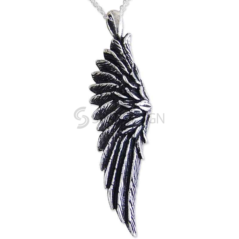 Women's Angel Wing Sterling Silver Necklace