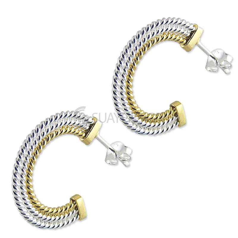 Women's Paloma Hoop Gold & Silver Earrings